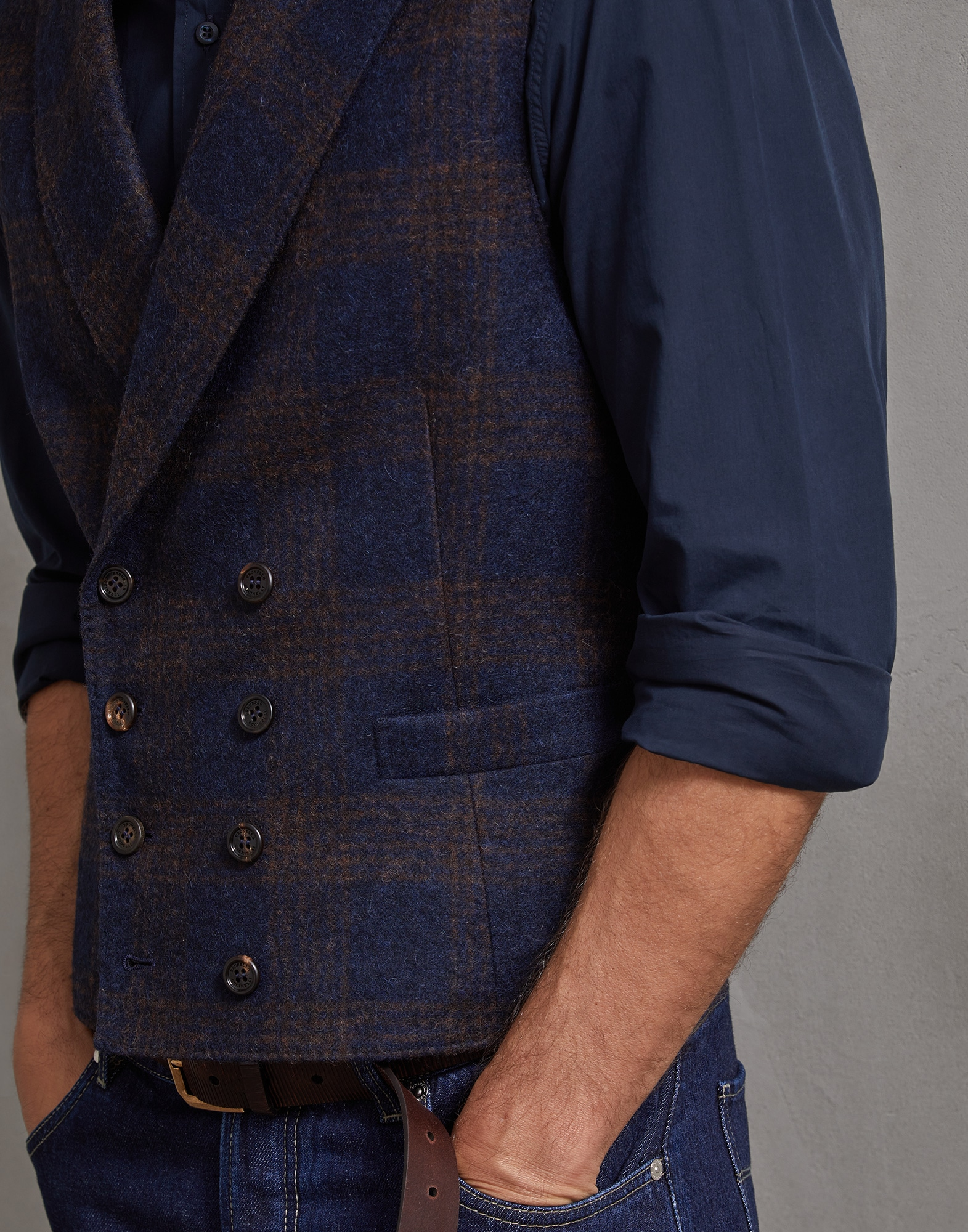 Vest Blue Man 2 - Brunello Cucinelli
