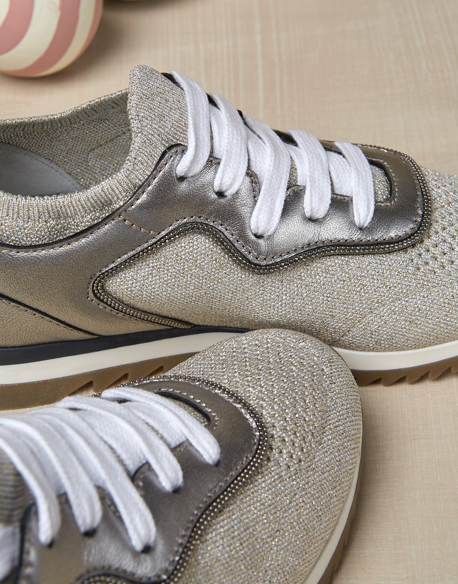 Sneakers Beige Girl 3 - Brunello Cucinelli