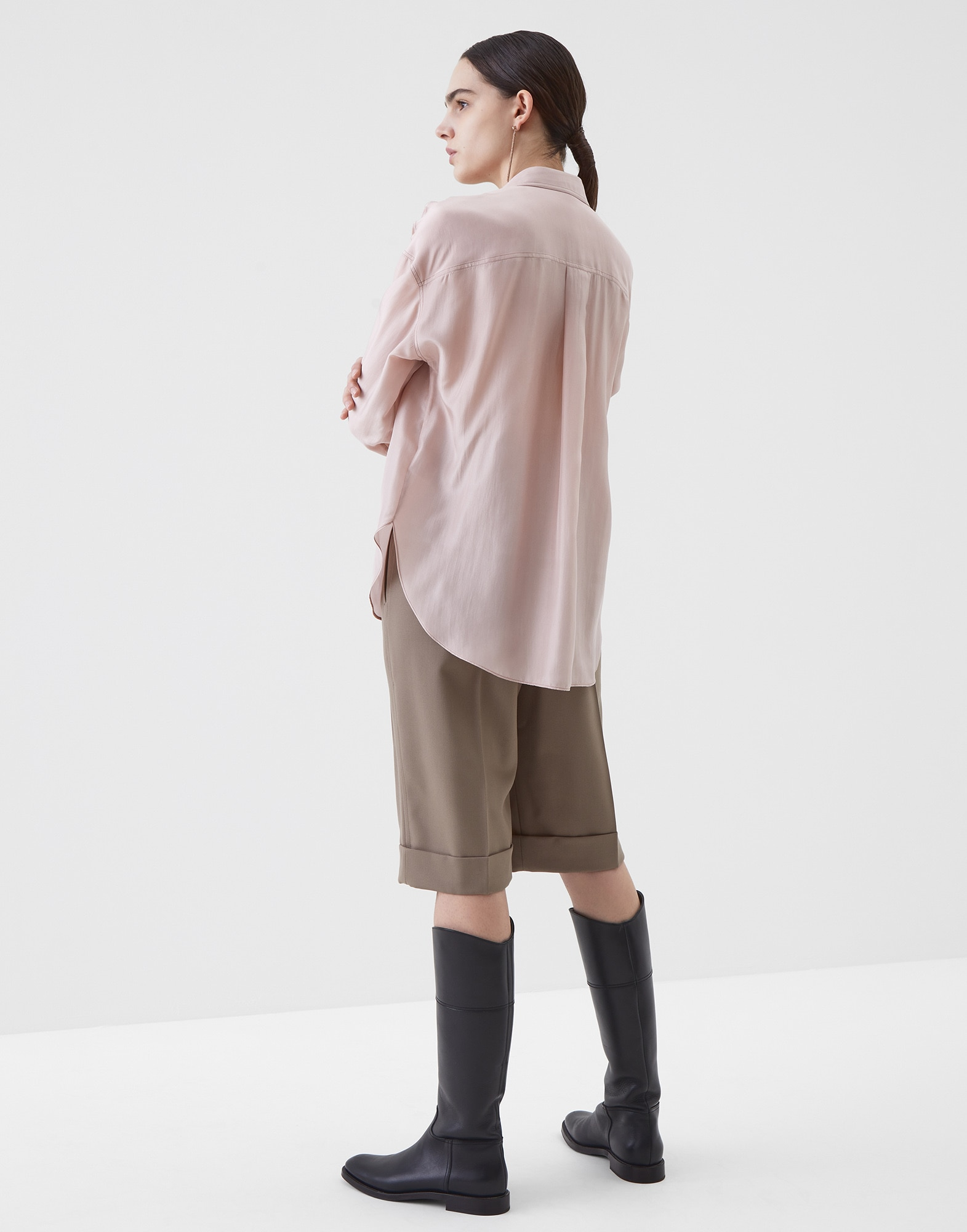 Silk Shirt Powder Woman 2 - Brunello Cucinelli