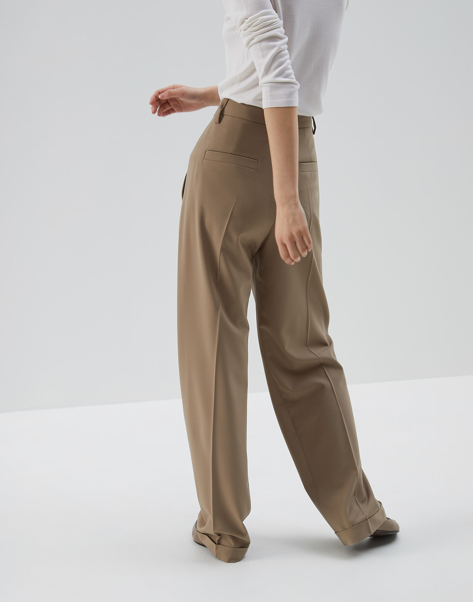Trousers Brown Woman 1 - Brunello Cucinelli