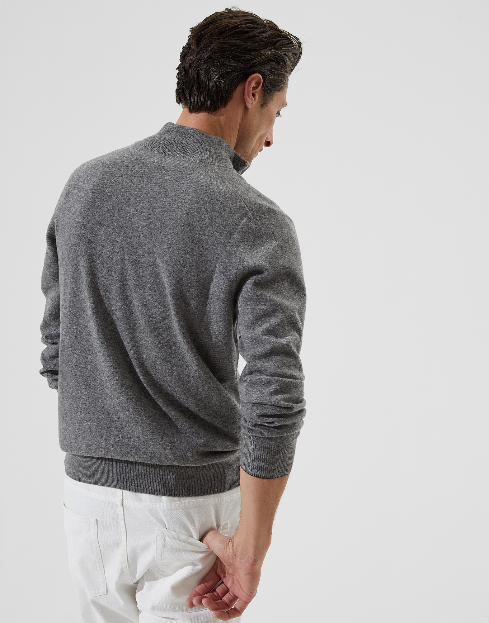 High Neck Sweater - Back view