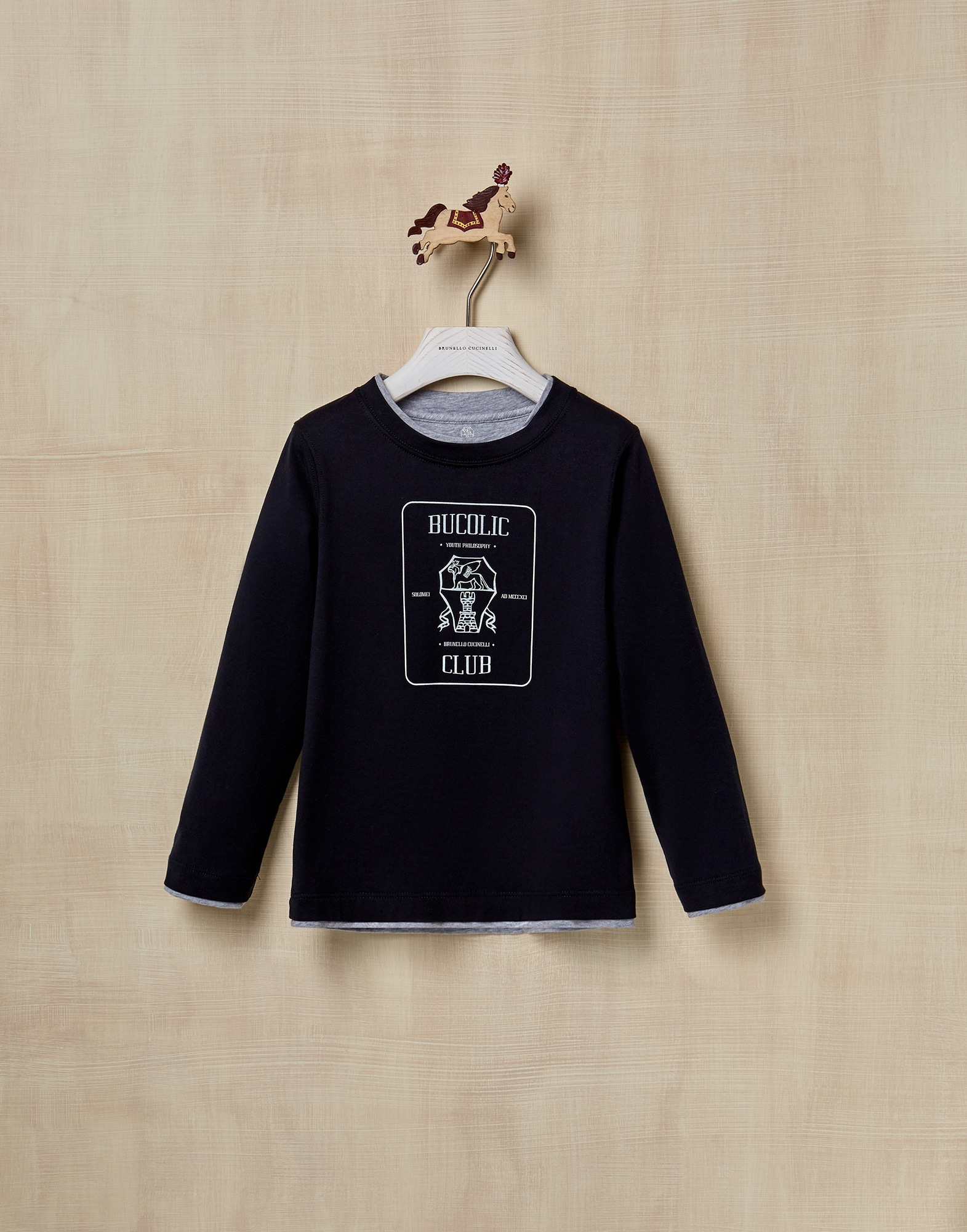 T-Shirt Navy Blue Boy 1 - Brunello Cucinelli