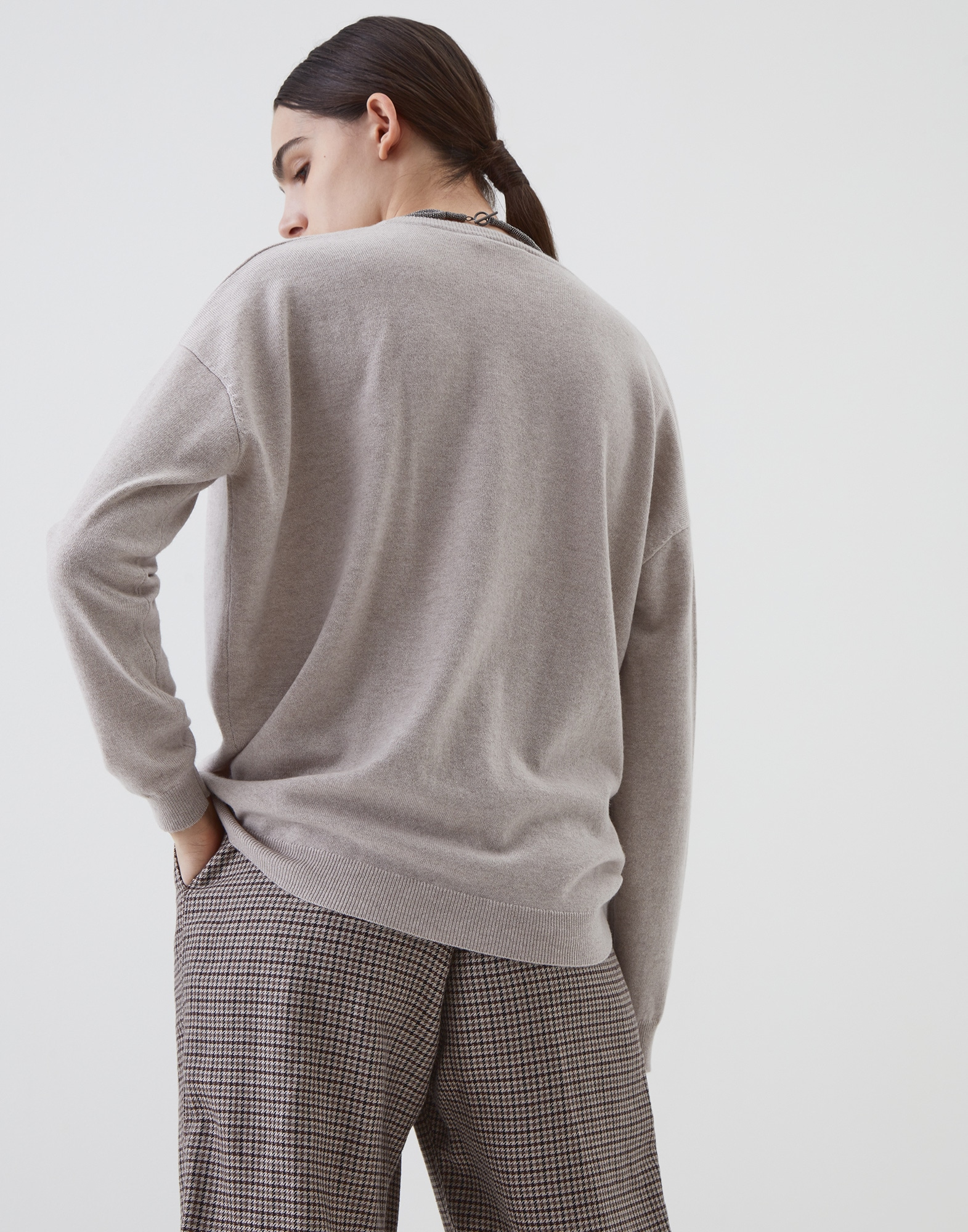 V-neck Sweater - Back
