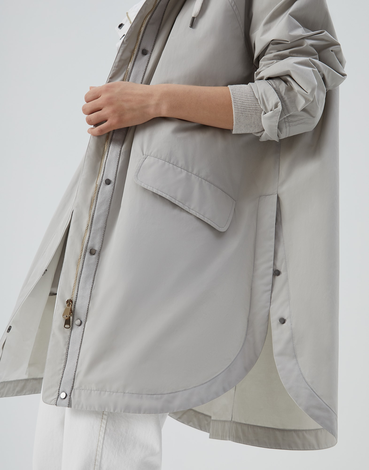Outerwear Jacket Light Grey Woman 3 - Brunello Cucinelli