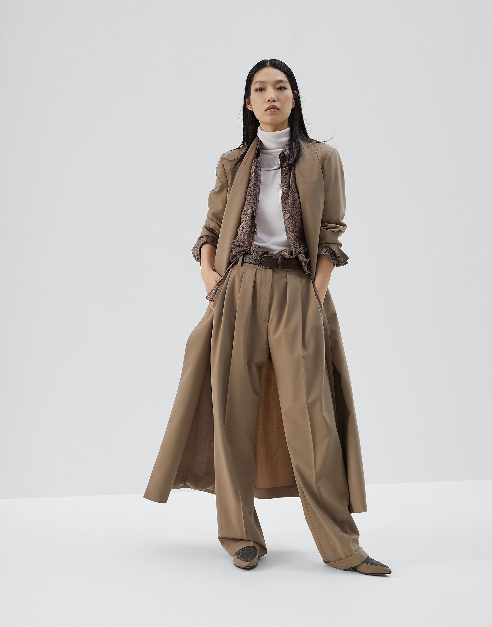 Trousers Brown Woman 3 - Brunello Cucinelli