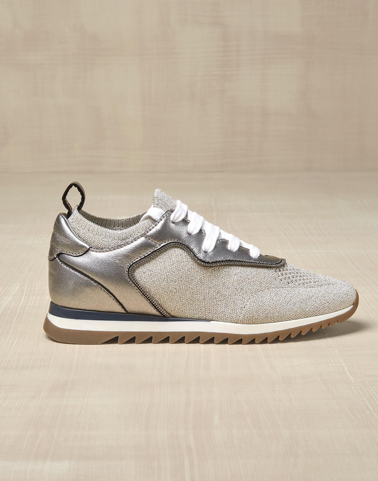 Sneakers Beige Girl 0 - Brunello Cucinelli