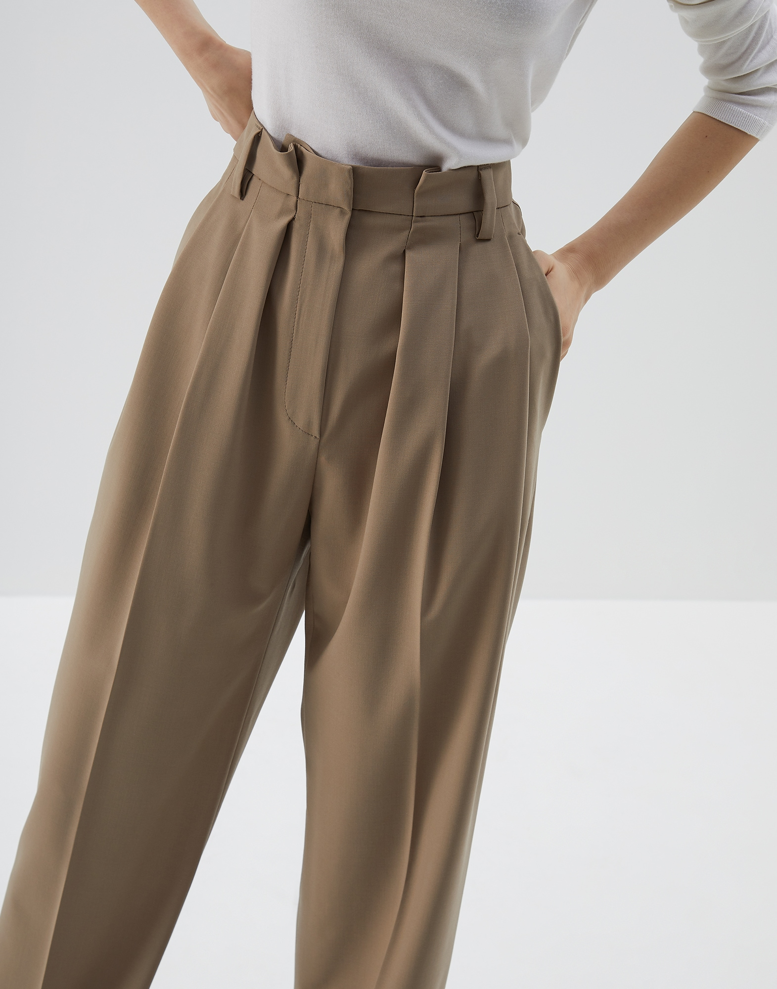 Trousers Brown Woman 2 - Brunello Cucinelli
