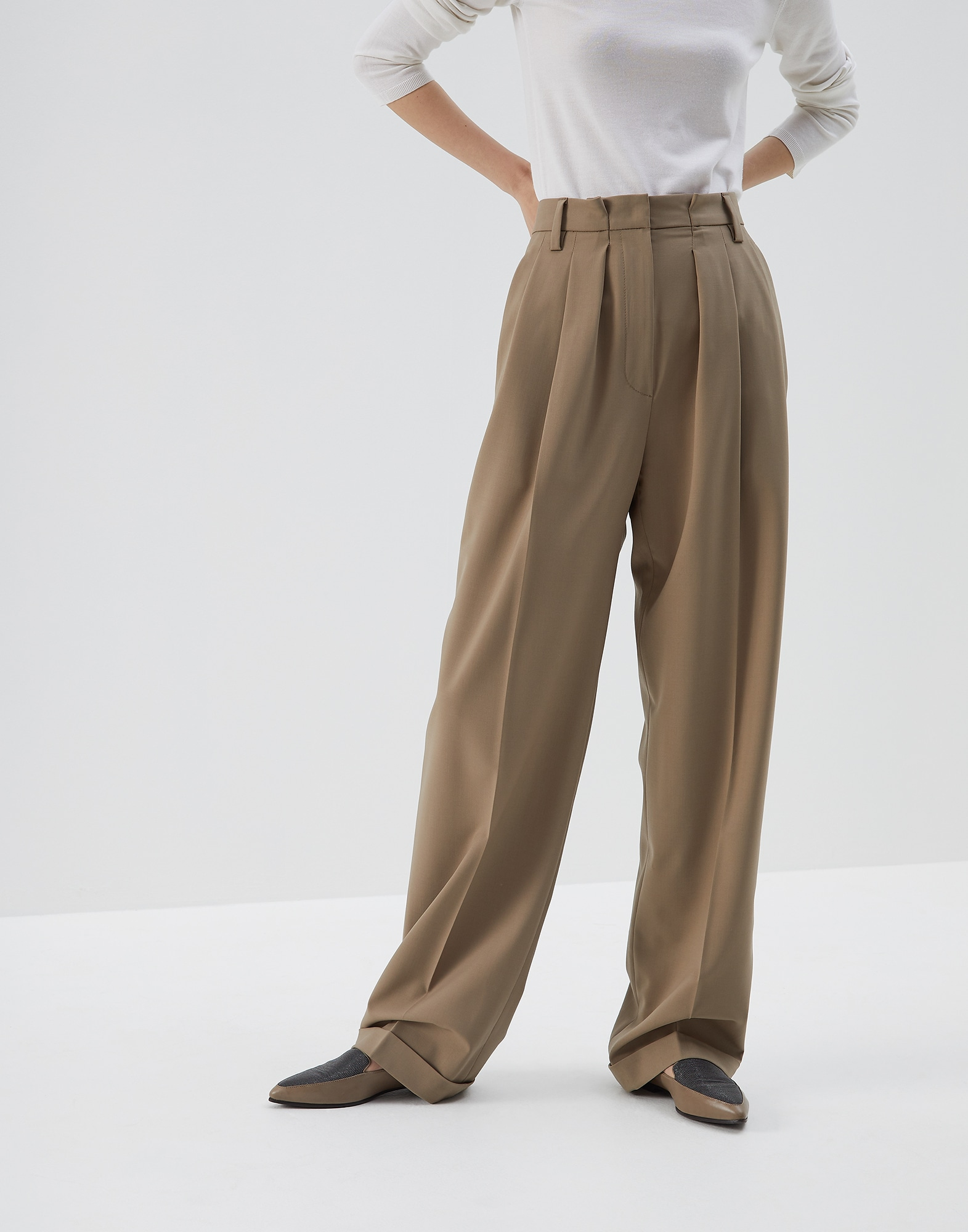 Trousers Brown Woman 0 - Brunello Cucinelli